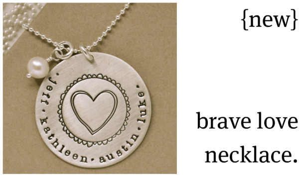 Brave love necklace4, custom, hand-stamped jewelry